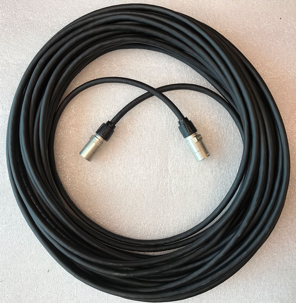 Belden 80M premium shielded Cat5E cable. Neutrik ethercon connectors