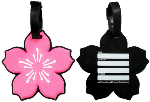 Cherry Blossom PVC Luggage Tags