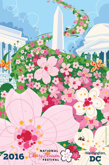 2016 National Cherry Blossom Festival Artwork Postcard