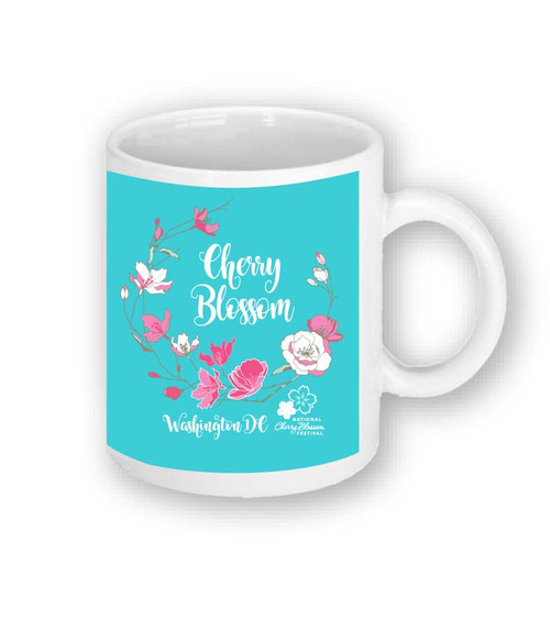 CHERRY BLOSSOM WREATH SUBLIMATION MUG