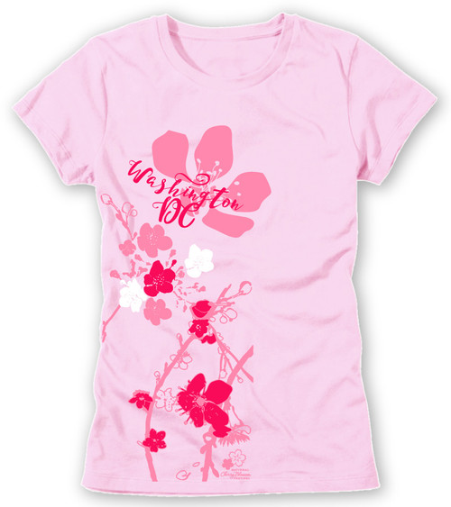 CHERRY BLOSSOM IMPRESSION LADIES TEE CLASSIC PINK