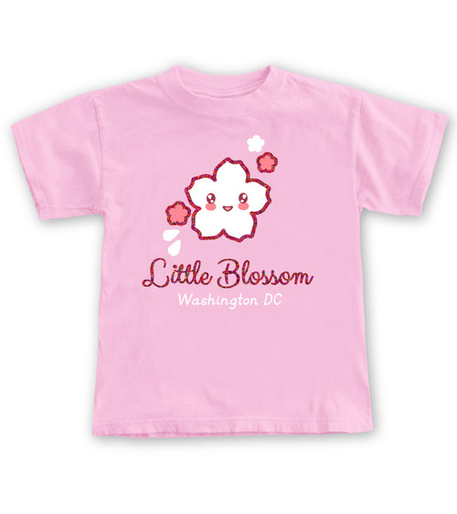 LITLE BLOSSOM YOUTH TEE  NEON PINK