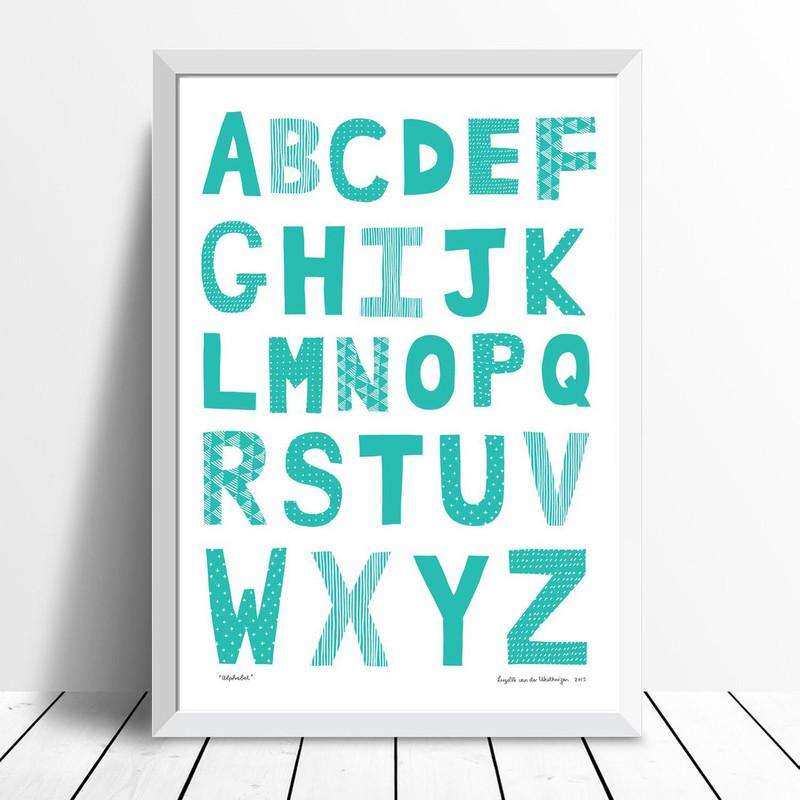 Alphabet, Lucite Green