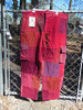 Red/Burgandy Long Patchwork Pants (large)