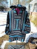 Black and Turquoise Rugged Hoodie