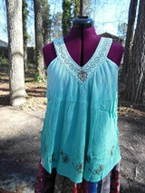 Ari Seafoam V Neck Top