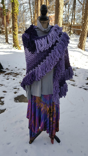 Hippie Shawl Purples