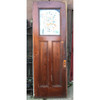 "D17159 - Antique Pine Three Panel Interior Door with Glass 31-3/4"" x 89-1/2"""