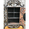 A17099 - Antique Hand Carved Black Forest Wall Hung Cabinet