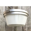 "L17269 - Vintage Mid Century Flush Mount ""Holophane"" Light Fixture"