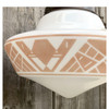 L17270 - Antique Art Deco Schoolhouse Pendant Fixture with Stencil