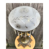 L17280 - Antique Colonial Revival Table Lamp with Wheelcut Shade