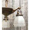 L18013 - Antique Colonial Revival Three Light Hanging Pan Fixture