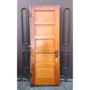 "D18038 - Antique Five Horizontal Panel Interior Door With Jamb 29-3/4"" x 83"""