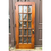 "D18076 - Antique Oak and Beveled Glass Interior French Door 32"" x 78-3/4"""