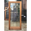 """D18081 - Vintage Pine and Beveled Glass Interior French Door 36"""" x 80"""""""