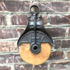 A18077 - Antique Wood and Iron Pulley