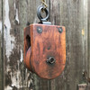 A18081 - Antique Wood and Iron Pulley