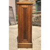 F18062 - Antique Arts and Crafts Quartersawn Oak Double Sided Bookcase