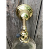 L18104 - Antique Colonial Revival Brass Sconce