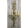 600704 - Antique Neoclassical Candle Wall Sconce