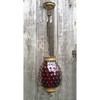 607018 - Antique Late Victorian Ceiling Light Fixture with a Ruby Hobnail Shade