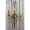 607846 - Antique Colonial Revival Multiple Candle Arm Wall Sconce