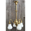 608280 - Antique Colonial Revival Four Arm Ceiling Light Fixture