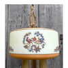 608664 - Antique Art Deco Ceiling Light Fixture with Painted Ring Shade