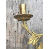 805627 - Pair of Antique Brass and Mahogany Candle Wall Sconces