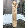 S14001 - Antique Aesthetic Movement Cherry Newel Post
