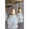 L14014 - Antique Colonial Revival Four Light Hanging Pan Fixture