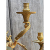 L14051 - Pair of Vintage Putti Three Arm Candle Sconces