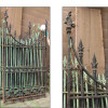 S15027 - Antique Gothic Revival Cast and Wrought Iron Gate