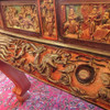 F15101 - Massive Antique Carved Chinese Throne or Bed