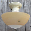 L15319B - Antique Art Moderne Ceiling Light Fixture With Bowl Shade