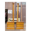 S15038 - Pair of Antique Colonial Revival Oak Column Room Dividers