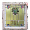 G16016 - Antique Tudor Revival Stained Glass Window