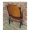 F16031 - Antique Wood & Cast Iron Theater Seat