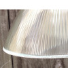 L16110 - Antique Holophane Prismatic Shade on Nickel Pendant Fixture