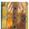 G16027 - Massive Antique Late Victorian Textured and Stained Glass Window