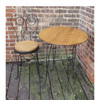 F16149 - Antique Bent Wire Ice Cream Parlor Table with Four Chairs
