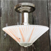 L17058 - Art Moderne Ceiling Light Fixture With Antique Bowl Shade