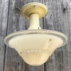 L17072 - Art Moderne Ceiling Light Fixture With Antique Bowl Shade
