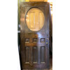 "D17075 - Antique Oak Late Victorian Exterior Door with Oval Beveled Glass  36"" x 84"""
