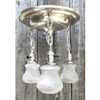 L17121 - Antique Revival Period Nickel Plated Three Light Flush Mount Pan Fixture