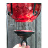 L17130 - Antique Kerosene Light Fixture with Ruby Glass