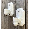 L17160 - Pair of Antique Porcelain Bare Bulb Sconces