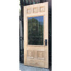 "D17115 - Antique Late Victorian Oak and Sycamore Exterior Part Light Door 32"" x 77-3/4"""