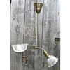 L17170 - Antique Colonial Revival Two Light Hanging Fixture